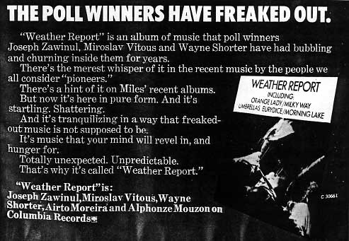 Weather Report Ad