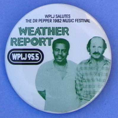 Weather Report pinback button